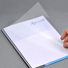 Обложка для переплета, A4, 300микр, пластиковая, прозрачная Bindermax