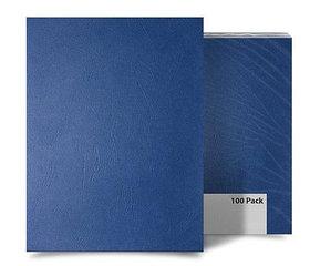 """Обложка для переплета, A3, 270гр, картон """"под кожу"""", матовая, синяя ProfiOffice"""