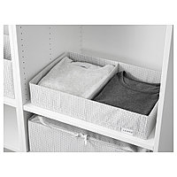 СТУК Ящик с отделениями, белый/серый, 34x51x10 см, фото 1