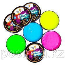 Пластилин для детской лепки GENIO KIDS «SMART GUM», цветное свечение