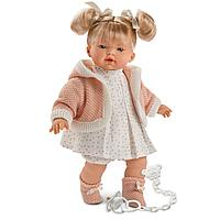 LLORENS: Кукла малышка Роберта 33 см, блондинка в розовой курточке