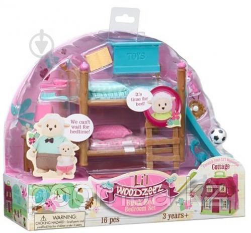 Игровой набор Lil Woodzeez Двухъярусная кровать для детской комнаты