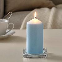 ДАГЛИГЕН Неароматическая свеча формовая, голубой, 14 см, фото 1