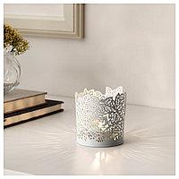 САМВЕРКА Подсвечник для греющей свечи, белый, фото 1