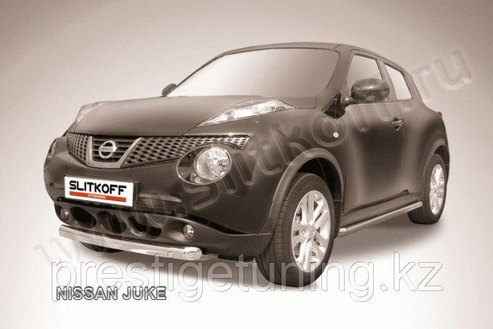 Защита переднего бампера d76 короткая Nissan Juke