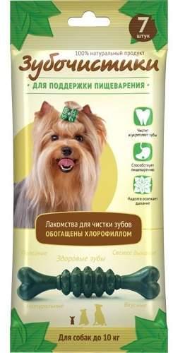 Зубочистики «Мятные» с хлорофиллом для собак мелких пород - 7шт
