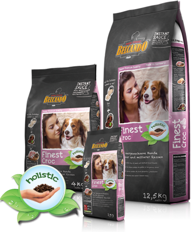 Корм Bewital Belcando Finest Croc для взрослых собак мелких и средних пород (Утка и печень) - 4 кг
