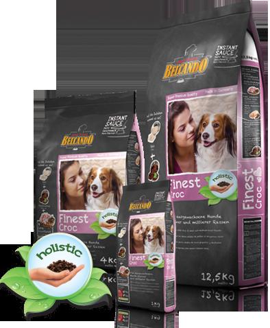 Корм Bewital Belcando Finest Croc для взрослых собак мелких и средних пород (Утка и печень) - 1 кг