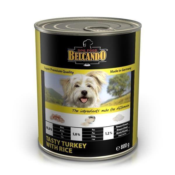 Консерва Bewital Belcando Tasty для собак (Индейка и белый рис) - 800 г