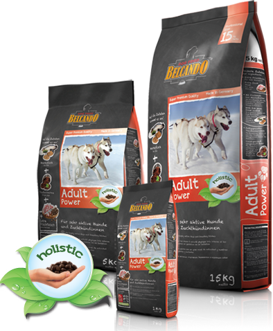Корм Bewital Belcando Power для взрослых активных собак средних и крупных пород (Птица, рыба) - 15 кг