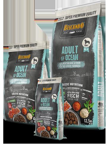 Беззерновой, безглютеновый корм Belcando для взрослых собак средних и крупных пород (Лосось) - 12.5 кг
