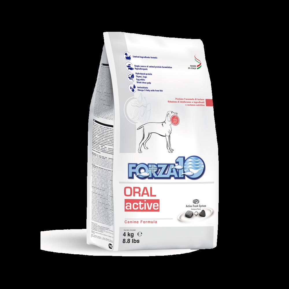 Корм Forza10 Oral Active для взрослых собак с заболеваниями ротовой полости (Рыба) - 4 кг