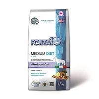 Корм Medium Diet Merluzzo для собак средних пород с пищевой непереносимостью (Треска) - 1.5 кг