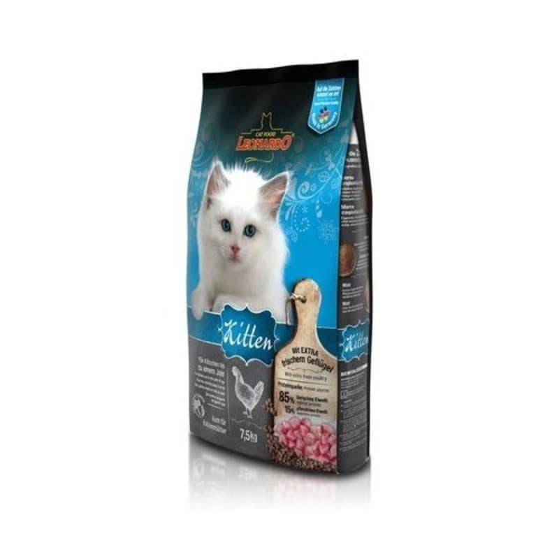 Корм Bewital Leonardo Kitten для котят, беременных и лактирующих кошек (Домашняя птица) - 7.5 кг