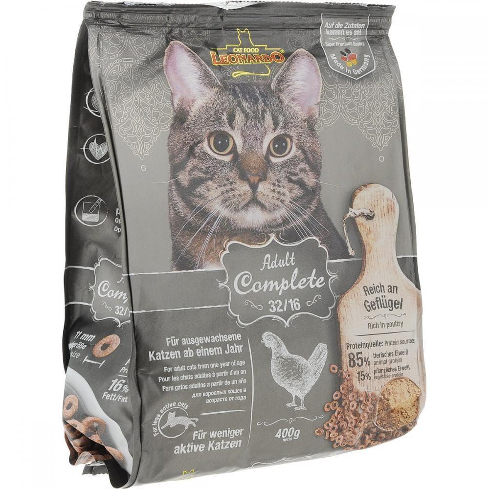 Корм Bewital Leonardo Adult 32/16 для взрослых кошек (Курица) - 400 г