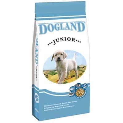 Корм Bewital Dogland Junior для щенков средних и крупных пород (Птица и рыба) - 15 кг