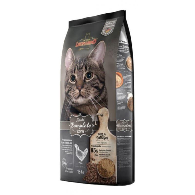 Корм Bewital Leonardo 32/16 для взрослых кошек (Утка) - 15 кг