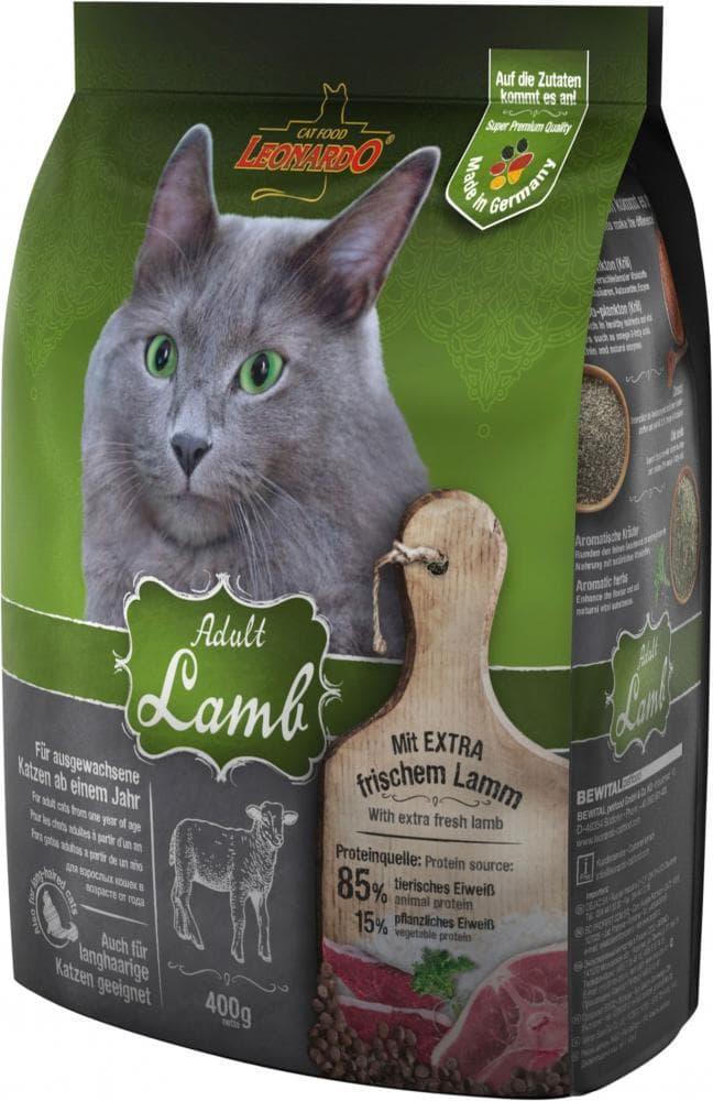 Корм Bewital Leonardo Sensitive для взрослых кошек с чувствительным пищеварением (Ягненок) - 400 г