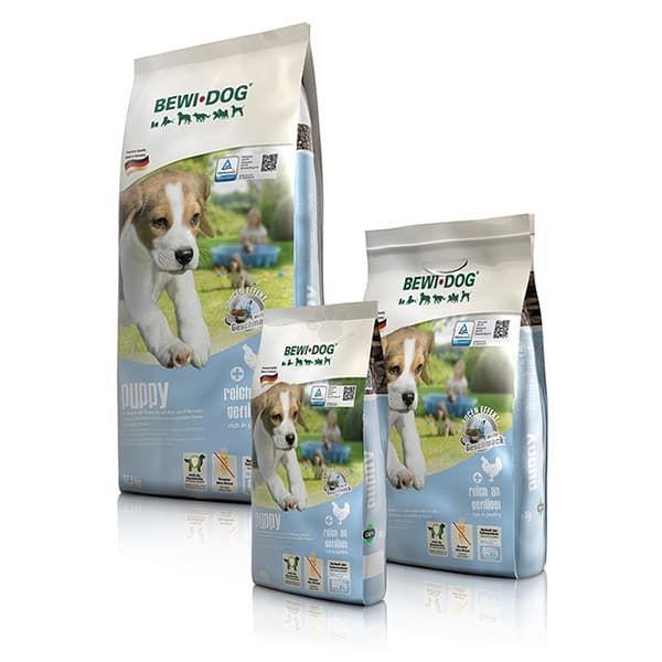Корм Bewi Dog Puppy для щенков, с эфектом соуса (Яйца, птица и рыба) - 12.5 кг