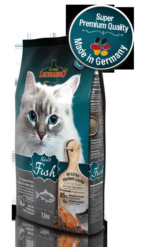 Корм Bewital Leonardo Sensitive для взрослых кошек с чувствительным пищеварением (Рыба, рис) - 15 кг