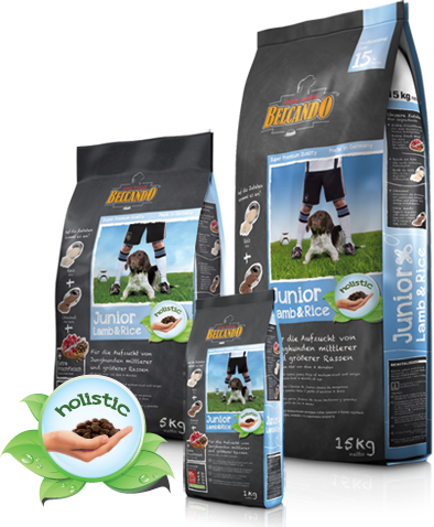 Корм гипоаллергенный Belcando Junior Lamb & Rice для щенков средних и крупных пород (Ягненок) - 1 кг