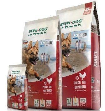 Высококаллорийный корм Bewi Dog Sport Croc для собак с высоким уровнем активности - 25 кг