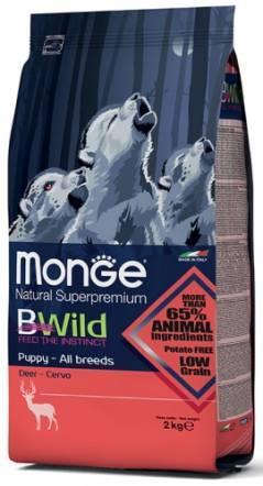 Корм Monge BWild Puppy Deer для щенков всех пород (Оленина) - 2.5 кг