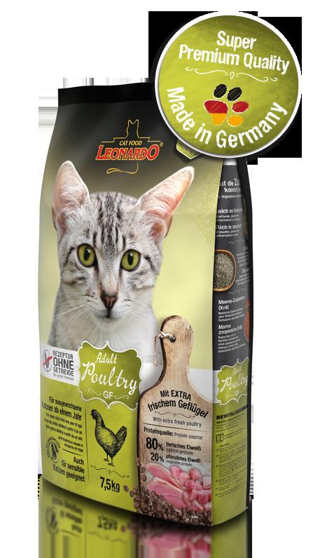Корм беззерновой Bewital Leonardo Adult для взрослых кошек (Курица) - 1.8 кг