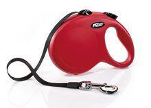 Ленточный поводок - рулетка Flexi New Classik для животных до 50 кг (Красный) - 5 м