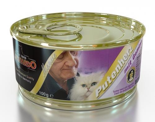 Консервы Leonardo Turkey heart для кошек (Индюшачие сердца) - 100 г