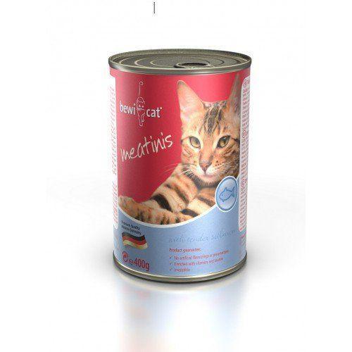Консервы Bewi Cat Meatinis Salmon для кошек (Лосось) - 400 г