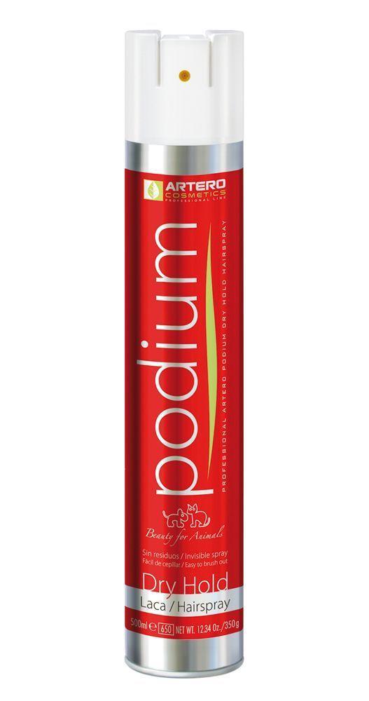 Лак сухой фиксации Artero laca Podium Dry Hold для собак и кошек - 500 мл