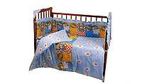 Комплект в кроватку 6 предметов Патрино 1001 Голубой, фото 1