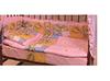 Комплект в кроватку 6 предметов Патрино 1001 розовый