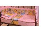 Комплект в кроватку 6 предметов Патрино 1001 розовый, фото 1