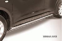 Защита порогов d42 с гибами Nissan Juke