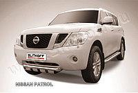 Защита переднего бампера d76+d57 двойная Nissan Patrol Y62 2010-19