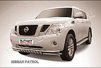 Защита переднего бампера d76 Nissan Patrol Y62 2010-19