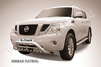 """Кенгурятник d76 низкий широкий """"мини"""" Nissan Patrol Y62 2010-19"""