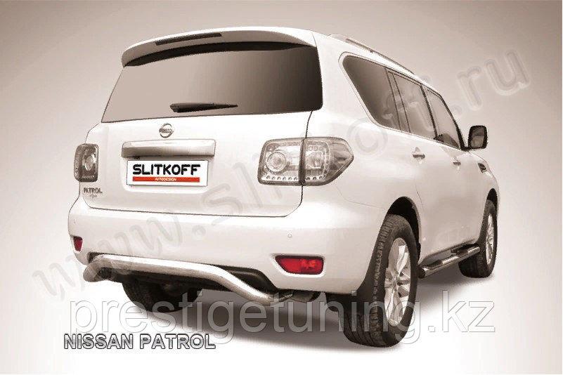 """Защита заднего бампера d76 """"скоба"""" Nissan Patrol Y62 2010-19"""