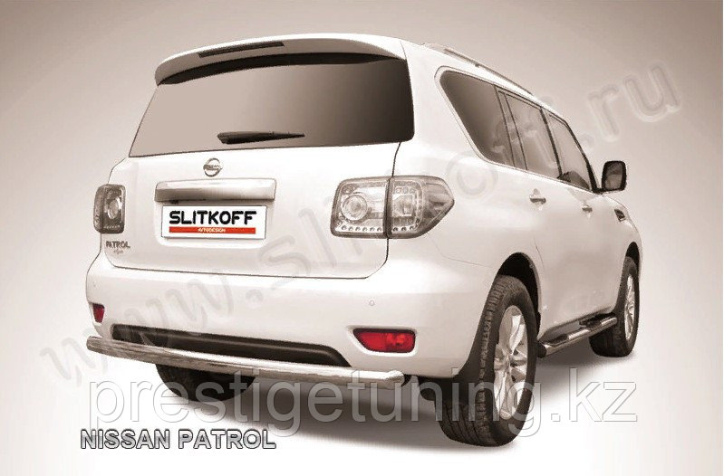 Защита заднего бампера d76 Nissan Patrol Y62 2010-19
