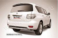 Защита заднего бампера d76 короткая Nissan Patrol Y62 2010-19
