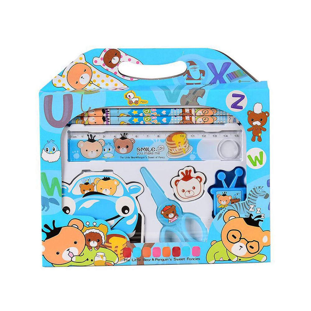 Детский подарочный набор канцелярских принадлежностей 7 предметов. Черная пятница!
