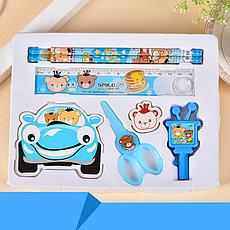 Детский подарочный набор канцелярских принадлежностей 7 предметов. Черная пятница!, фото 2