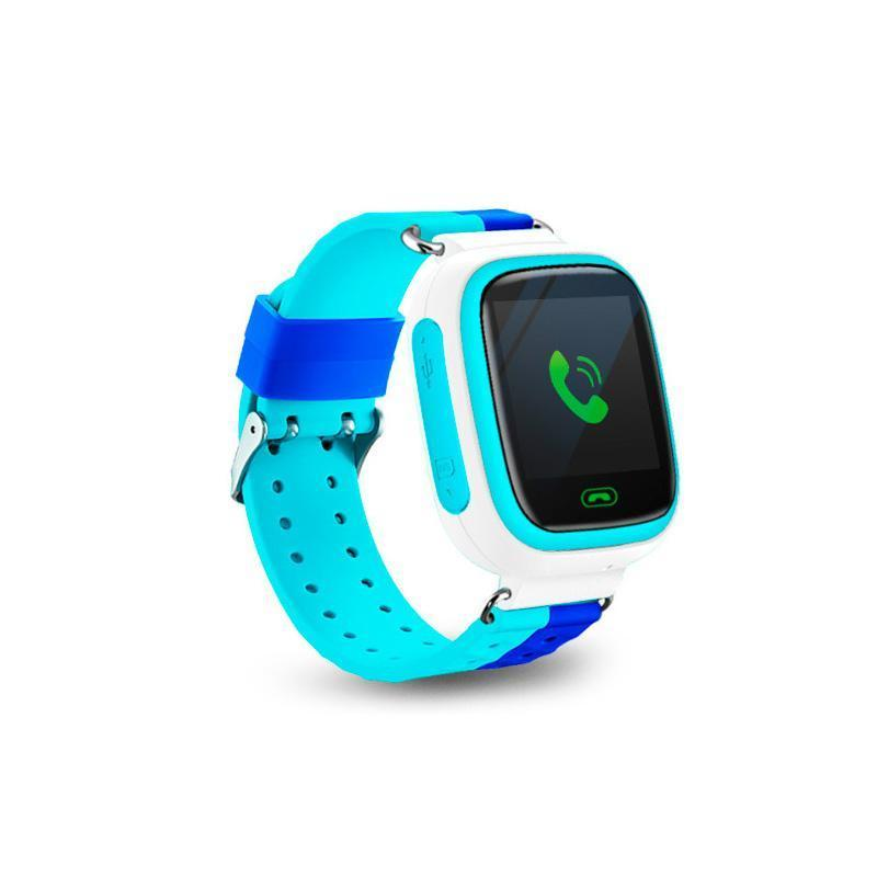 Детские смарт-часы Q80 1.44, цвет голубой + синий