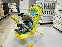 Детский шезлонг La-Di-Da Алфавит 3 положения спинки, 2 дуги для игрушек