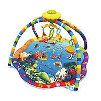 Развивающий коврик La-Di-Da Подводный мир со светом, музыкой и музыкальным мобилем PM-S-80701