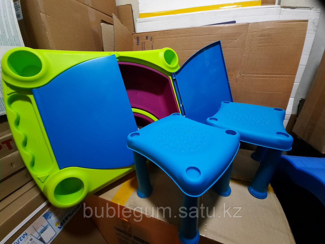 Столика Keter Creative для игры с водой и песком с табуретом