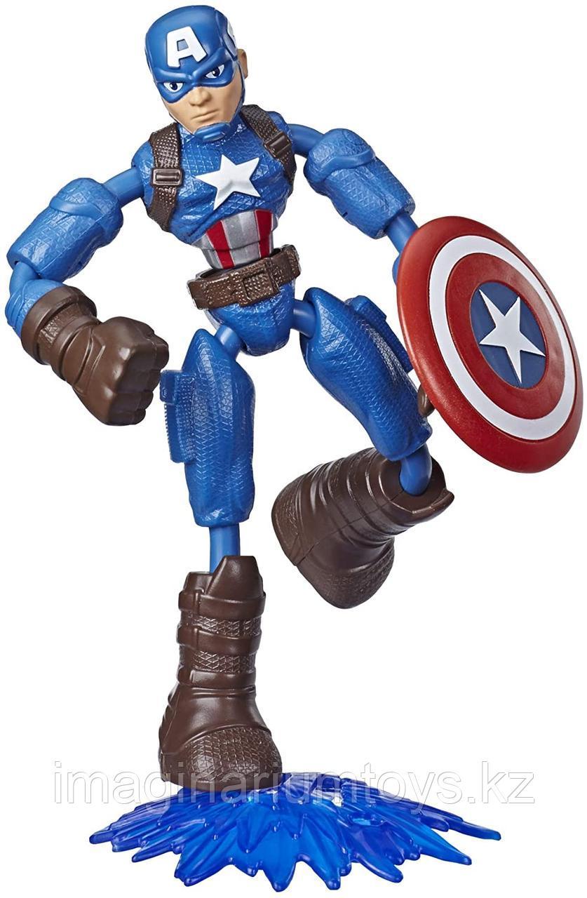 Капитан Америка фигурка 15 см Bend&Flex Hasbro