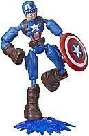 Капитан Америка фигурка 15 см Bend&Flex Hasbro, фото 1